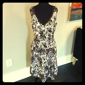 Suzi Chin brown and white floral dress
